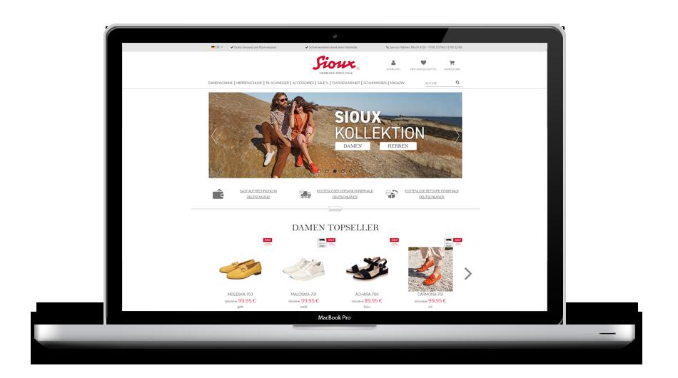 Sioux Online-Shop